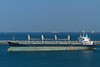 Oil tanker at an oil loading facility in Fujairah, UAE.
