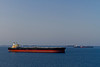 "Oil tankers awaiting  cargo at an off shore ""parking lot"" near the port of Fujairah, UAE."