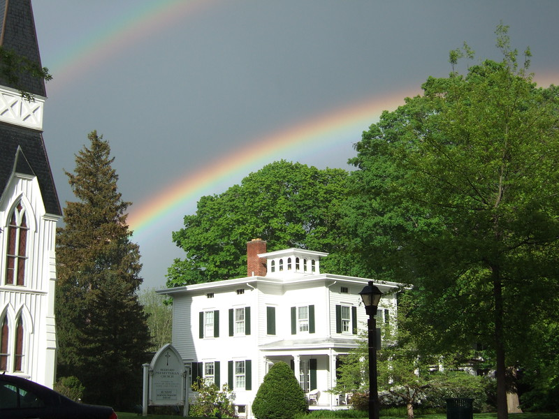 Double Rainbow over Bedford Village Presbyterian Church Vestry