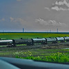 Drive by, big crop (Oil tankers stored near Sears Point in Sonoma City)  What could go wrong?