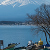 Mount Fuji From Lake Kawaguchi Fuji Five Lakes, Yamanashi Prefecture, Japan