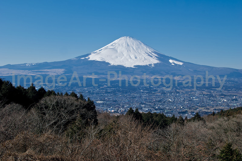 Mt. Fuji rises above the city of Gotemba, Shizuoka prefecture, Japan Fuji Five Lakes, Yamanashi Prefecture, Japan
