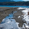 Ice on the beach Fuji Five Lakes, Yamanashi Prefecture, Japan