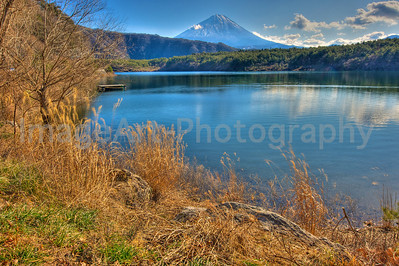 Mount Fuji Lakeside view Fuji Five Lakes, Yamanashi Prefecture, Japan