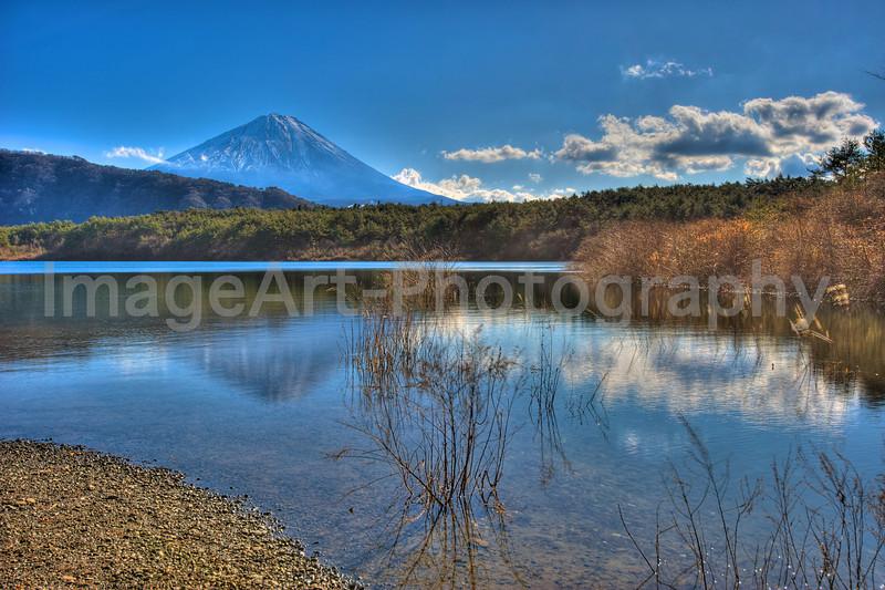 Mount Fuji Lakeside view Fuji Five Lakes, Yamanashi Prefecture, Japan
