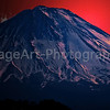 Blood Red Sky behind Mount Fuji Fuji Five Lakes, Yamanashi Prefecture, Japan