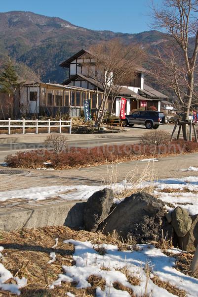 A roadside restaurant close to Mount Fuji, Japan Fuji Five Lakes, Yamanashi Prefecture, Japan