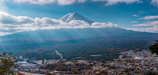 Mt. Fuji seen from Mt. Kachi