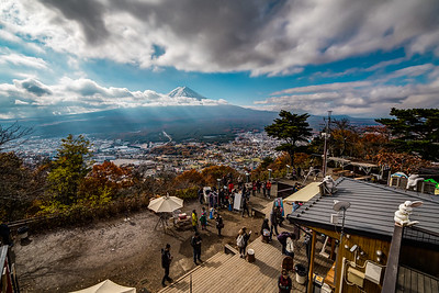 Mt. Fuji seen from Mt. Kachi