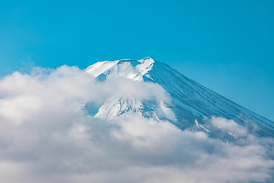 Mt. Fuji seen from Arakurayama Sengen Park