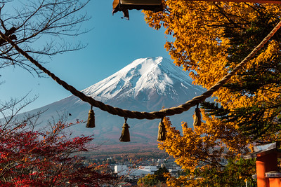 Mt. Fuji seen from Arakurayama Sengen Park