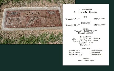 Leonardo was my uncle he was married to Bertha Garcia who is my mothers sister.