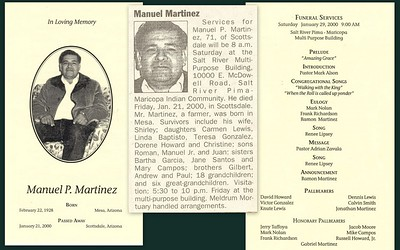 Manuel is my uncle he was married to Shirley, he is my mothers brother.