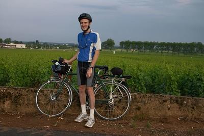 Me and bike, Beaune vineyard