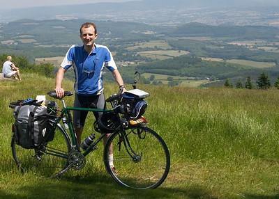 Me, bike at Bibracte