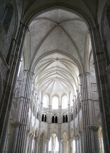 Vezelay Cathedral arches
