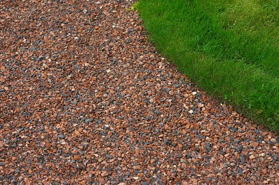 Gravel and grass