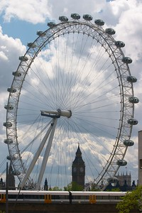 Big Ben and London Eye 3