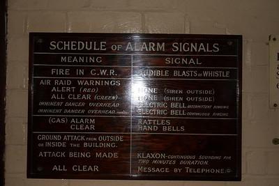 Cabinet alarm signals
