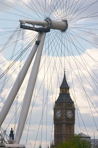 Big Ben and London Eye 4