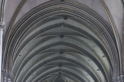 Bayeux cathedral interior arches