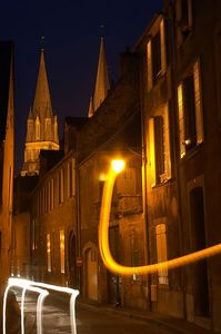 Bayeux evening street
