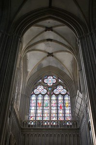 Bayeux cathedral stained glass light