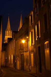 Bayeux evening street 2