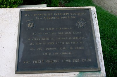 Plaque, paratrooper memorial