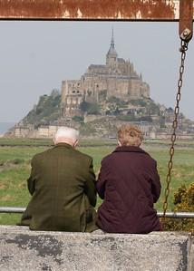 Mont St Michel old couple
