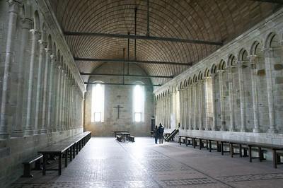 Mont St Michel monks dining