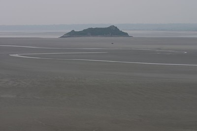 Mont St. Michel view of marshes