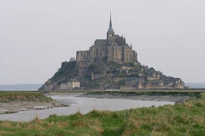 Mont St Michel view from meadow 2