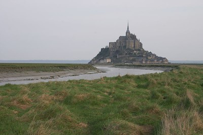 Mont St Michel view from meadow