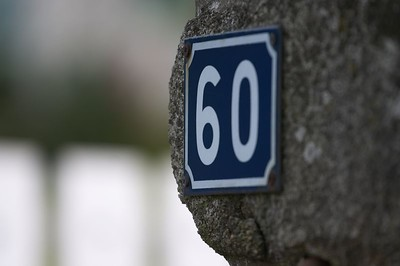 Address marker, town opposite MSM