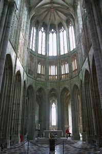Mont St Michel chapel front