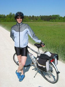 Sarah and bike