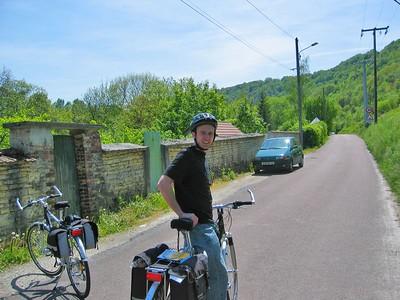 Me, leaving Bar-Sur-Aube