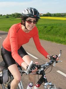 Sarah biking closeup
