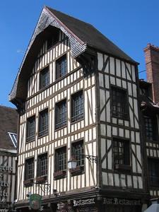 Troyes medieval building