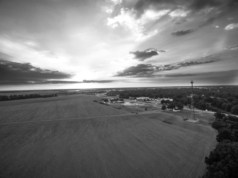 Leland Fields Sunsets (BW)