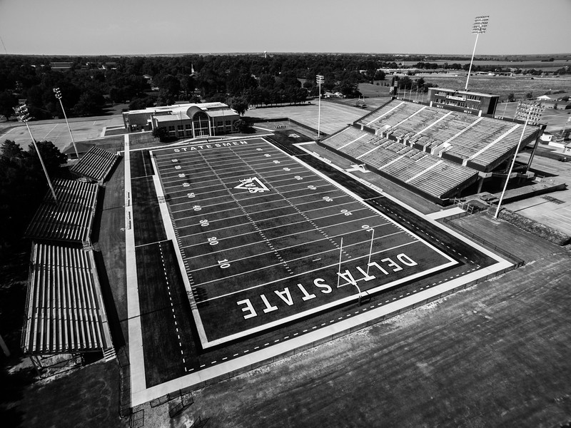 Travis Parker Field at Horace McCool Stadium 2 (BW)