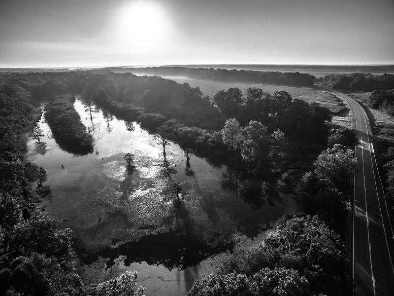 Dawn on the Tallahatchie (BW)