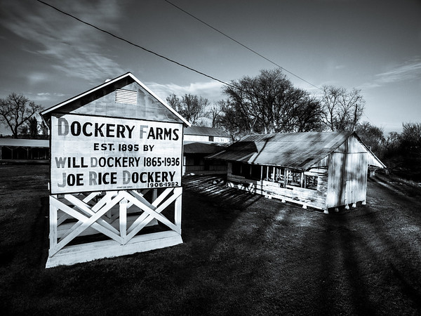 Dusk at Dockery Farms (BW)