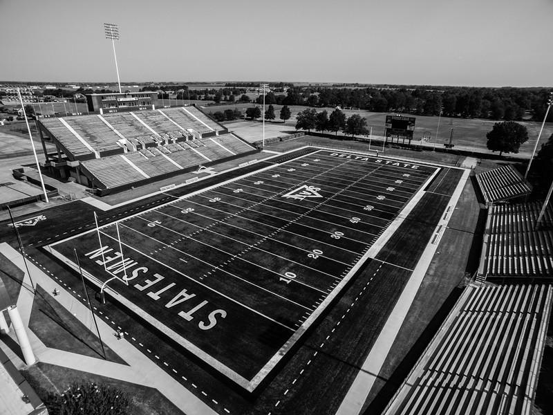 Travis Park Field at Horace McCool Stadium (BW)