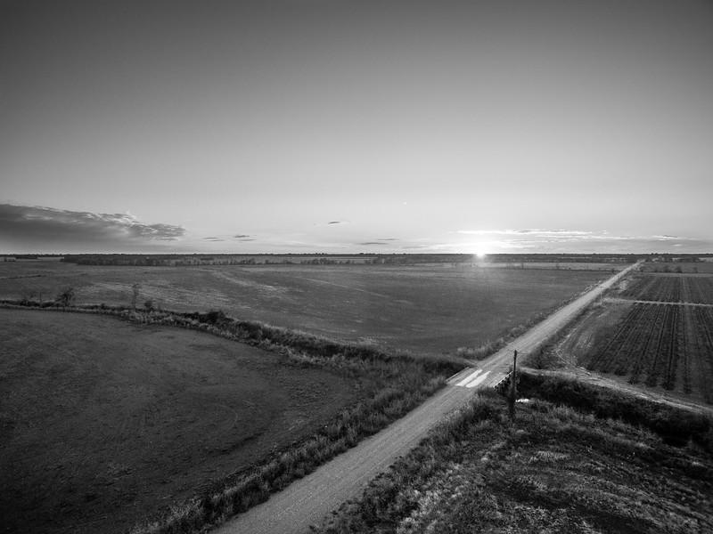 Pemble Road Sunset (BW)