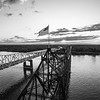 Old Glory on the Mighty Mississippi (BW)