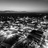 Big City Sunset (BW)