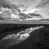 Sunset Stream (BW)