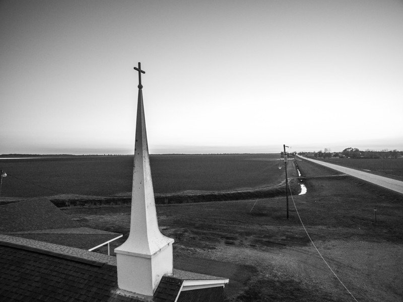 Steeple in the Sky (BW)